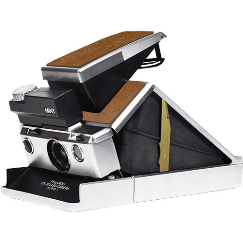 Mint Camera SLR670S Instant Camera without the Tripod Mounting Hole and Neck Strap Eyelets (Brown)