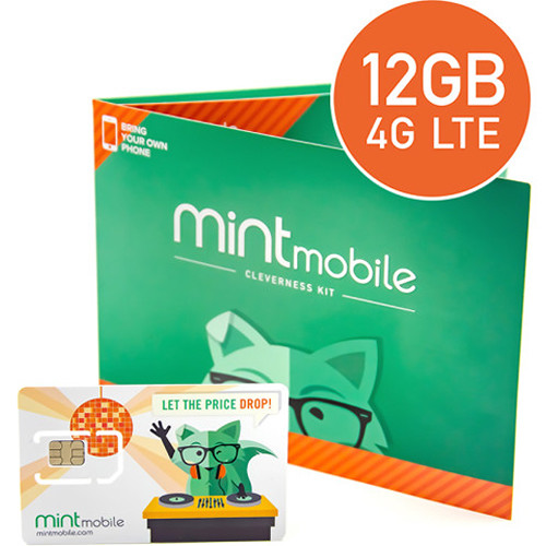 Mint Mobile 3-Month 12GB Prepaid SIM Card Kit