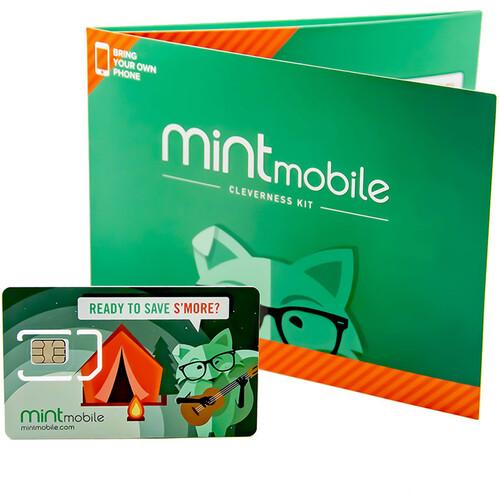 Mint Mobile 3-Month 8GB Prepaid SIM Card Kit