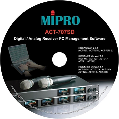 MIPRO PC Management Software for Select Receivers