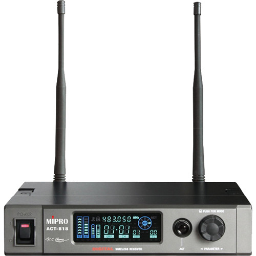MIPRO ACT-818 Wideband Single-Channel Digital Receiver (5E: 480 to 544 MHz)