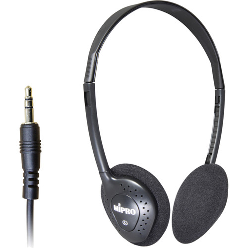 MIPRO Lightweight Stereo Headphones for MTG-100R Receiver