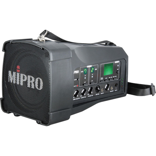 MIPRO MA100D6A Personal Wireless PA System with Single Wireless Receiver (Black)