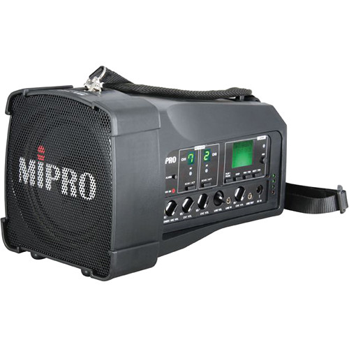 MIPRO MA-100DB Dual-Channel Personal Wireless PA System (6B, Black)