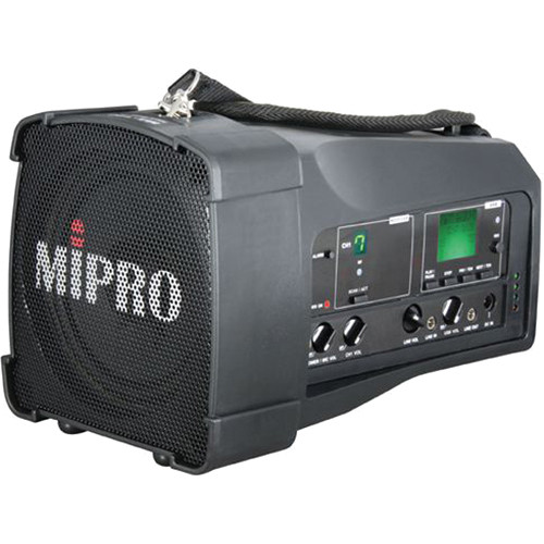 MIPRO MA-100SB Single-Channel Personal Wireless PA System (6B, Black)