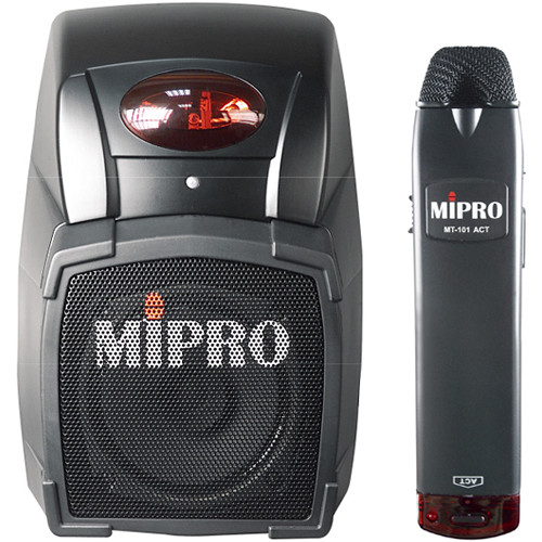 MIPRO MA-101ACT6C Wireless Classroom PA System with MT-101ACT6C Transmitter Microphone (Band 6C: 668-692 MHz, Black)