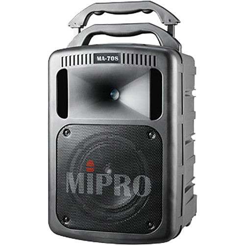 MIPRO MA-708PADBH-6C 190W Bluetooth Portable PA System with CD/USB Player and Wireless Handheld Mic (6C: 668 to 692 MHz, Black)