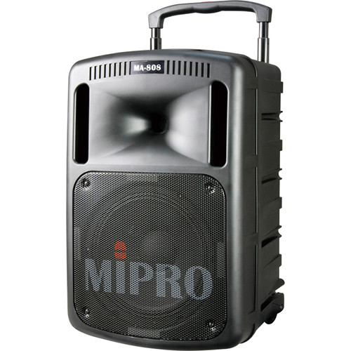 MIPRO MA-808 Portable Sound System w/ CD Player and Wireless Receiver (Black, 506 to 530 MHz)