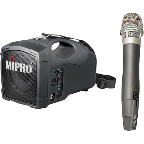 MIPRO MA-101G Portable PA with ACT-24HC Handheld Wireless Mic