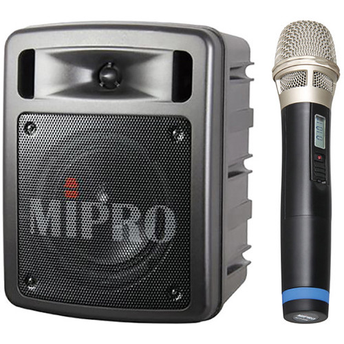 MIPRO MA-303SB Single-Channel Portable Wireless PA System with ACT-32H Handheld Microphone (542-566 MHz)