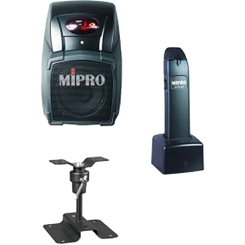 MIPRO PHONICBOOST6C Remote-Controlled Wireless Classroom PA System with Multi-Function Handheld Wireless Microphone (6C: 668 to 692 MHz)