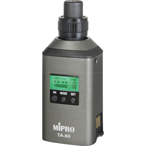 MIPRO Digital Wireless Plug-on Transmitter for Select XLR Microphone (5E: 480 to 544 MHz)