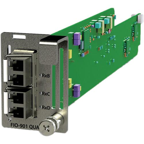 Miranda LUMO Quad 3Gb/s / HD / SD Optical Receiver Card with LC / PC Connectors