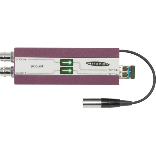 Miranda Dual 3G / HD / SD picoLink Fiber Optical CWDM Transmitter