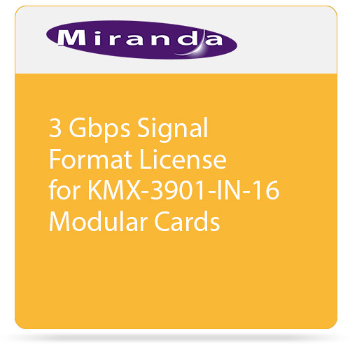 Miranda 3 Gbps Signal Format License for KMX-3901-IN-16 Modular Cards