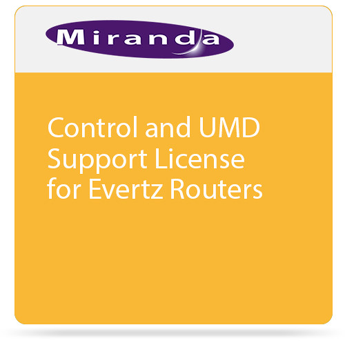 Miranda Control and UMD Support License for Evertz Routers