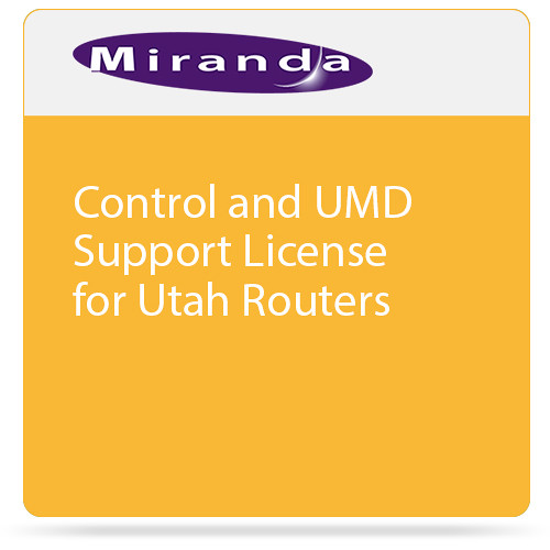 Miranda Control and UMD Support License for Utah Routers