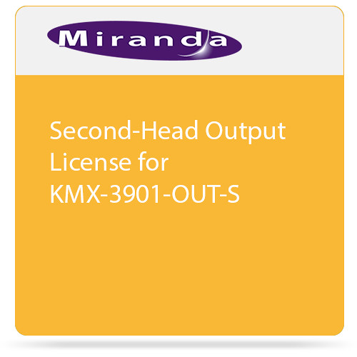Miranda Second-Head Output License for KMX-3901-OUT-S