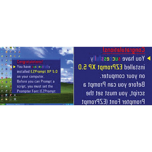 Mirror Image EZPrompt XP Version 6.0 Teleprompting Software