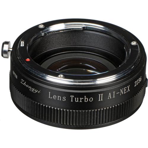 Mitakon Zhongyi Nikon F Lens to Sony E-Mount Camera Lens Turbo Adapter Mark II