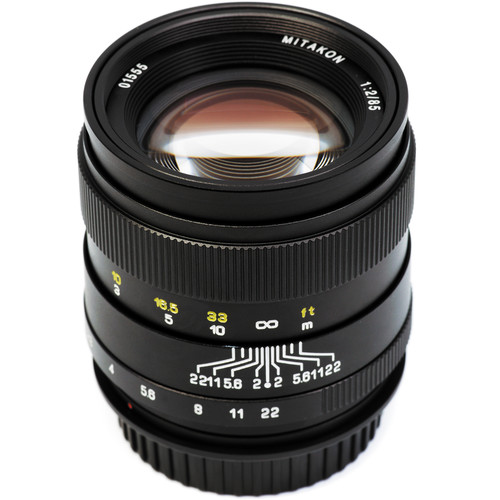 Mitakon Zhongyi 85mm f/2 Lens for Canon EF-Mount with Sony E-Mount Adapter Kit