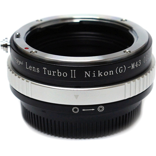 Mitakon Zhongyi Nikon F Mount G Lens to Micro Four Thirds Camera Lens Turbo Adapter Mark II