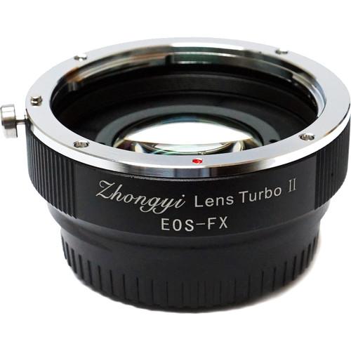 Mitakon Zhongyi Lens Turbo Adapter V2 for Full-Frame Canon EF Mount Lens to Fujifilm X Mount APS-C Camera