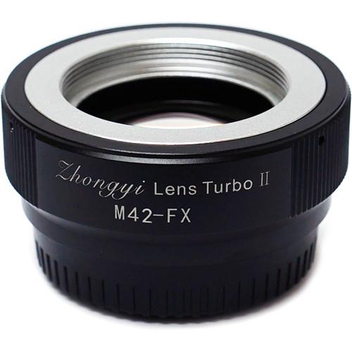 Mitakon Zhongyi Lens Turbo Adapter V2 for Full-Frame M42 Mount Lens to Fujifilm X Mount APS-C Camera