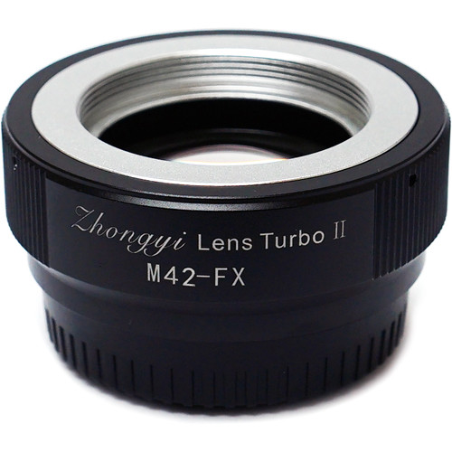 Mitakon Zhongyi Lens Turbo Adapter V2 for Full-Frame M42 Mount Lens to Fujifilm X Mount APS-C Camera