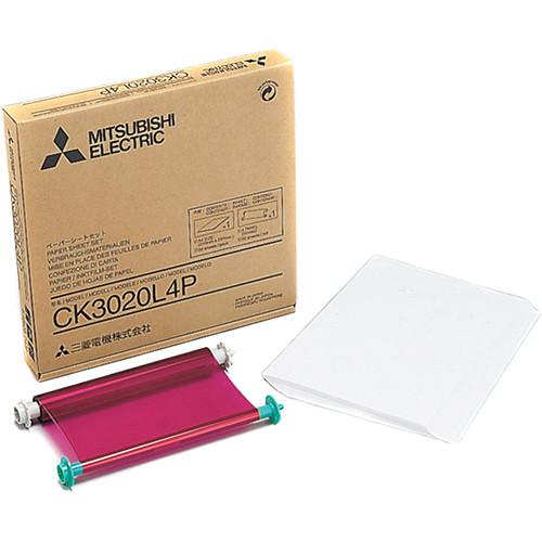 "Mitsubishi CK-3020L4P 8 x 10"" Glossy Media Set (5-Pack)"