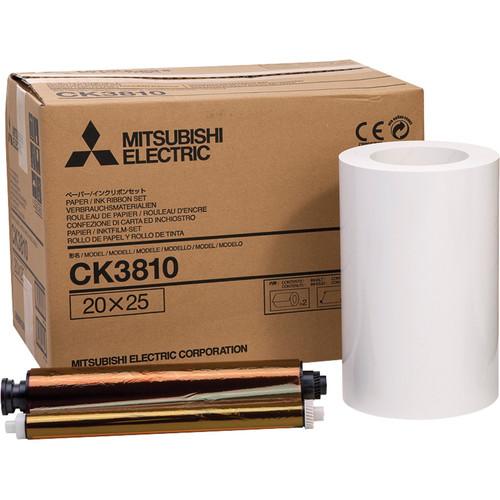 "Mitsubishi CK3810 Paper and Ribbon Set for CP-3800DW Dye-Sub Printer (8.0 x 10"", 2 Rolls)"