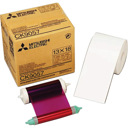 "Mitsubishi 5.0"" Paper Roll and Inksheet"