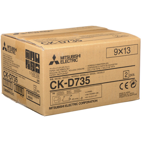 "Mitsubishi CK-D735 3.5 x 5"" Paper and Ink Media Kit"