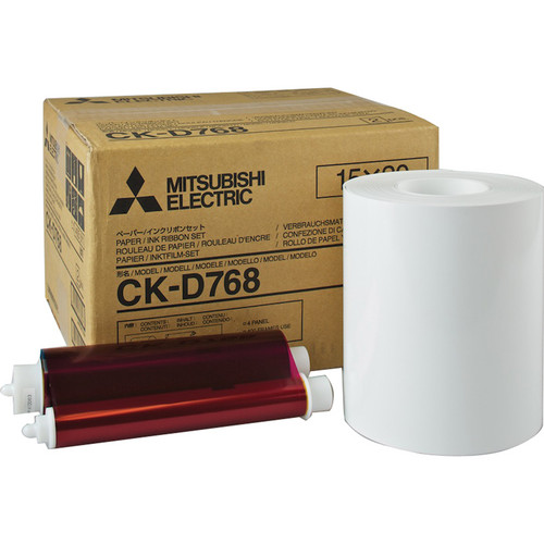 "Mitsubishi Set of Two 6.0"" Paper Rolls and Ribbons for CP-D70DW Printer"