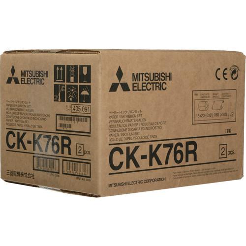 "Mitsubishi 6"" Paper & Ink Set for CP-K60DW-S Photo Printer"