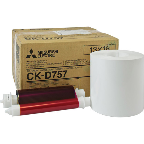 "Mitsubishi CK-D757 5 x 7"" Paper and Ink Media Kit"