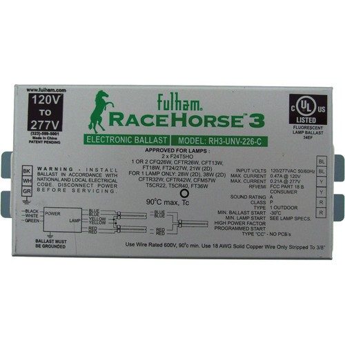 "Orte Fulham Racehorse 3 Light Ballast for ""The Box"" II"