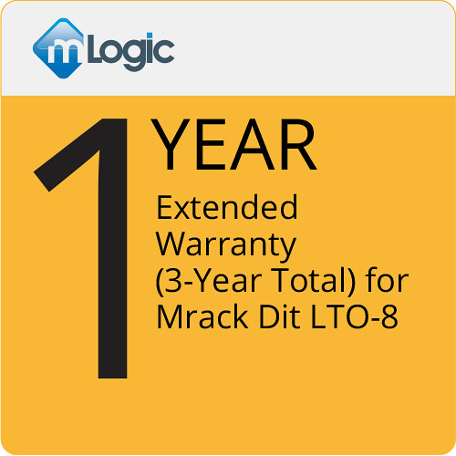 mLogic One Year Extended Warranty (3-Year Total) for Mrack Dit LTO-8