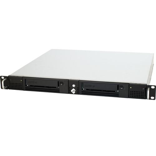 mLogic mRack-LTO-DUAL Rack Mountable Enclosure with Dual LTO-6 Tape Drive & Thunderbolt 2 (1 RU)