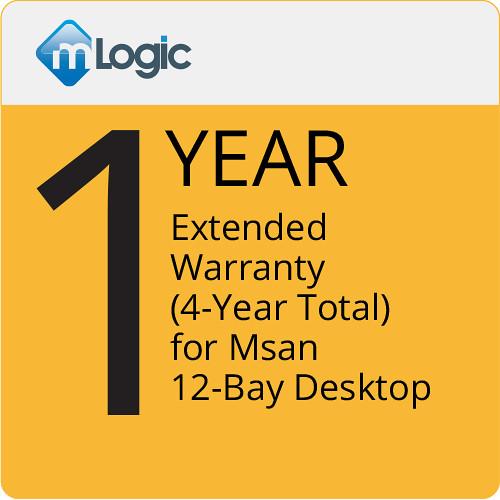 mLogic 1-Year Extended Warranty for mSan 12-Bay Desktop (4-Year Total)