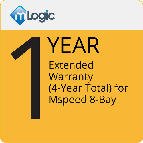mLogic 1-Year Extended Warranty for MSpeed 8-Bay Thunderbolt 3 RAID (4-Year Total)