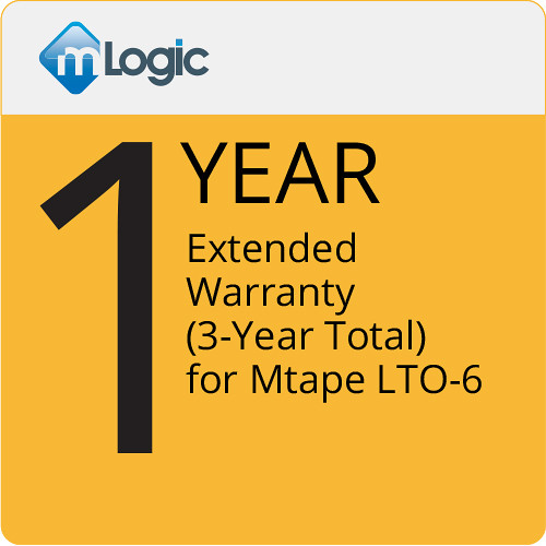 mLogic 1-Year Extended Warranty for mTape LTO 6 (3-Year Total)