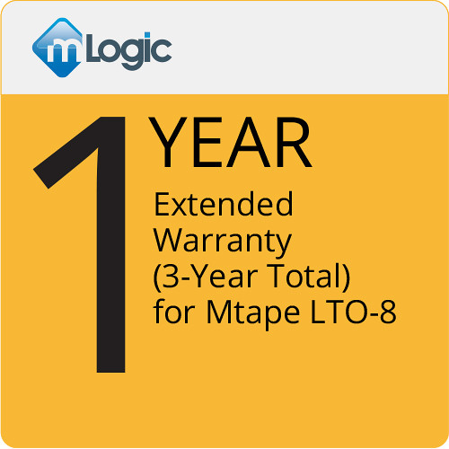mLogic 1-Year Extended Warranty for mTape LTO 8 (3-Year Total)