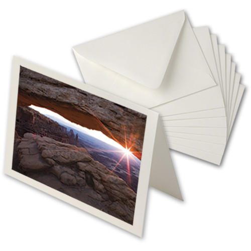 """Moab Entradalopes 190 Bright (7 x 10"""", 100 Cards with Envelopes)"""