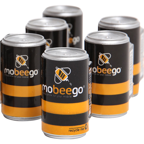 mobeego One-Time Battery Refill for Mobile Phone (Pack of 6 Cans)