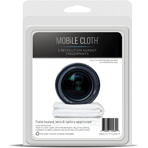 "Mobile Cloth Classic 9 x 9"" Cleaning Cloth for iPads, Tablets, Touchscreens, & Lenses (1-Pack)"