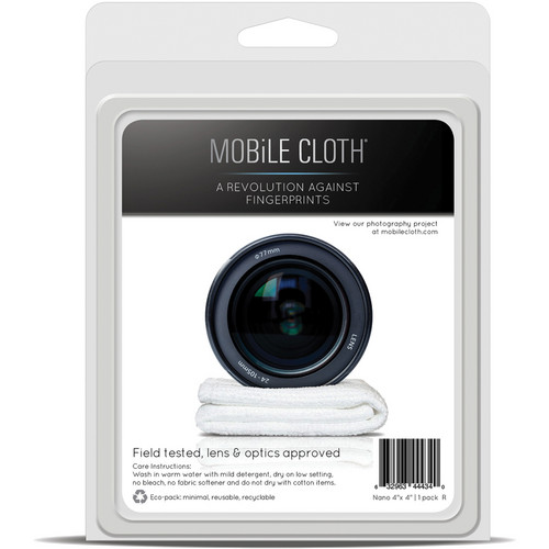 "Mobile Cloth Nano 4 x 4"" Cleaning Cloth for iPads, Tablets, Touchscreens, & Lenses"