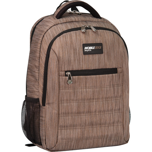 "Mobile Edge SmartPack Backpack for 16"" Laptops (Wheat)"