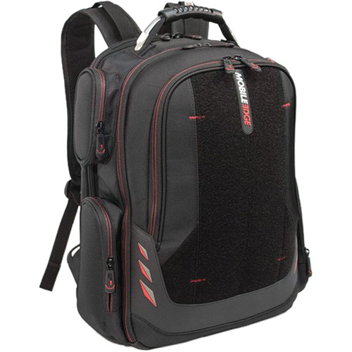 """Mobile Edge Core 17.3-18"""" Gaming Backpack with Velcro (Black/Pink)"""