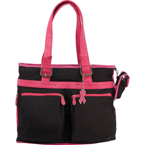 Mobile Edge Eco-Friendly Tote (Black with Pink Trim)